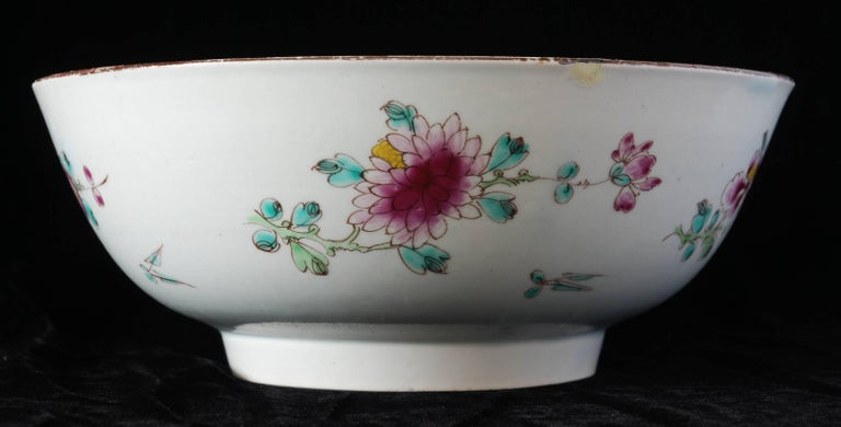 Punch Powl, Bow Porcelain Factory, circa 1755 For Sale 2