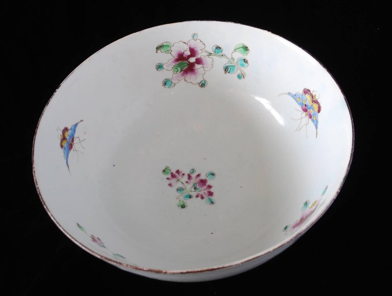 Punch Powl, Bow Porcelain Factory, circa 1755 For Sale 3