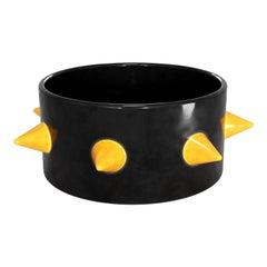 Punk Decorative Tableware Trendy Bowl, Modern Handmade Centerpiece Ceramic Bowl
