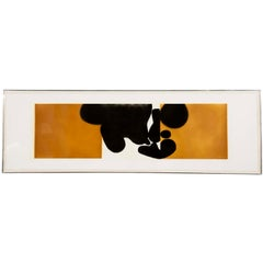 """Punto Di Cantatto 4"" Color Etching and Aquatint by Victor Pasmore"