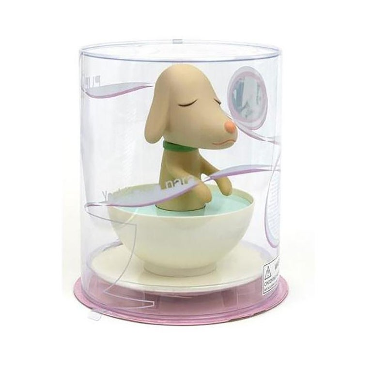 PupCup injection molded and roto-molded plastic Measures: 9.5 H. 8 W. x 8 D. inches Limited edition Original packaging  Less than 20 remaining! Price will increase as edition sells out.  The charming PupCup whirls, twirls and spins about to