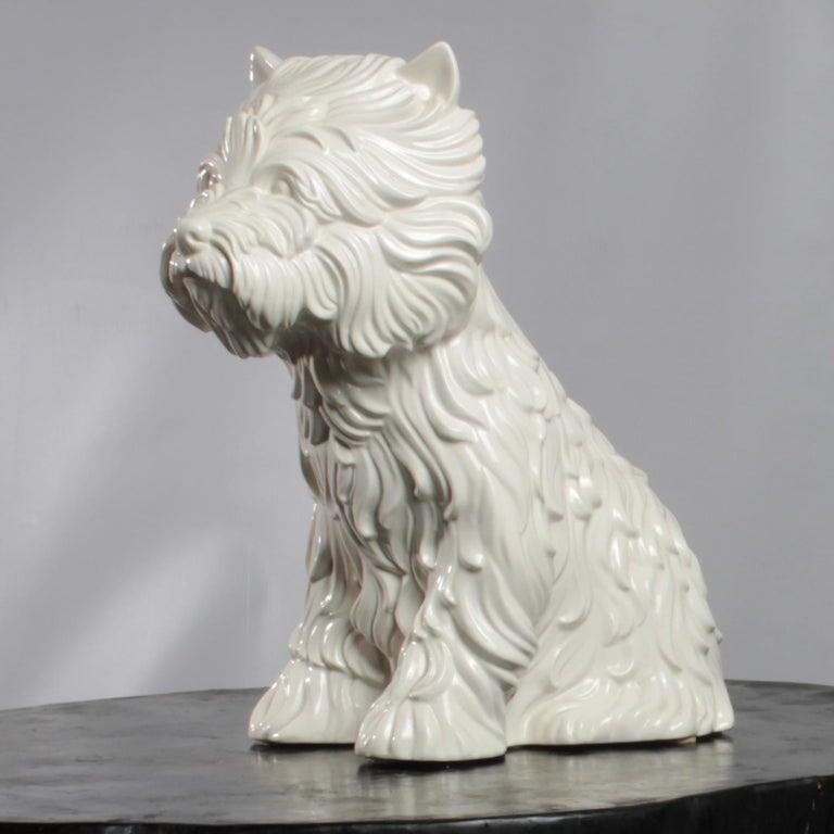 Glazed Puppy Vase by Jeff Koons, 1998 For Sale