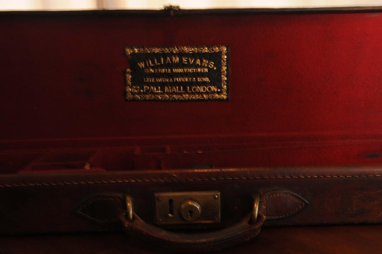 Purdey & Sons 'Royal Warrant' Victorian Leather and Brass Shotgun Case For Sale 3