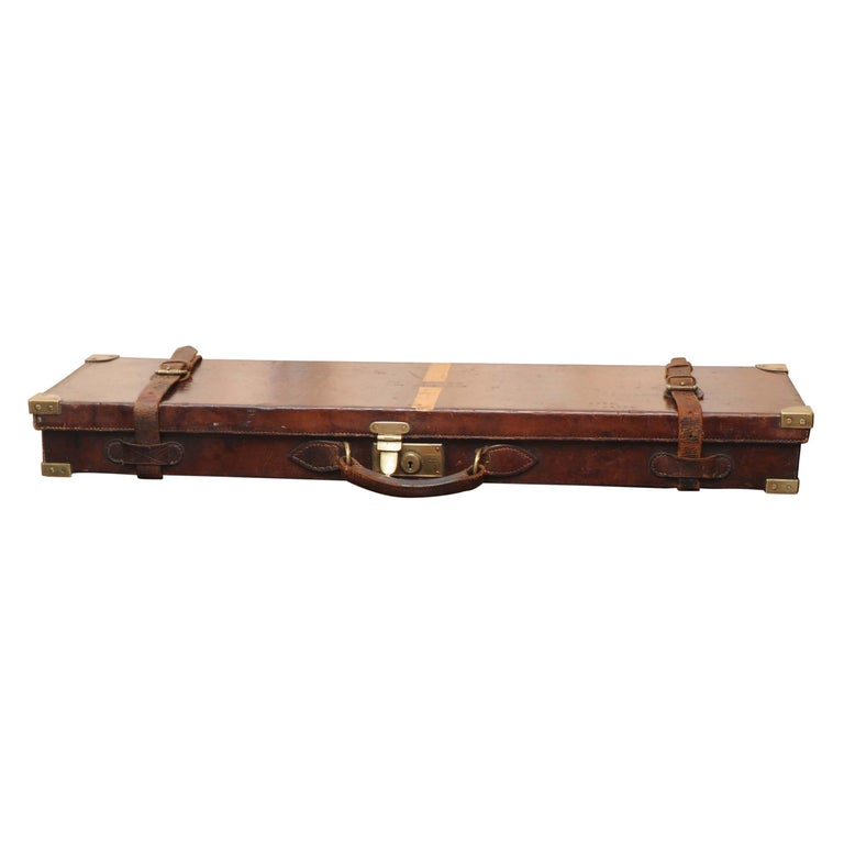 Purdey & Sons 'Royal Warrant' Victorian Leather and Brass Shotgun Case For Sale