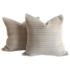 Pure Alpaca and Linen Decorative Accent Pillows in Soft Pale Taupe