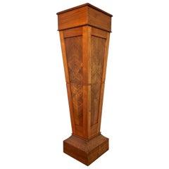 Pure Art Deco Teakwood Pedestal / Sculpture Stand for a Bust Sculpture Vase Etc.