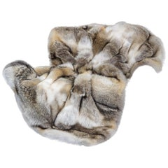 Pure Coyote Fur Plaid with Cashemire