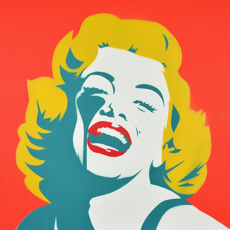 10936fb1d PURE EVIL: Screaming Marilyn Monroe CANVAS - Street art, Pop Art