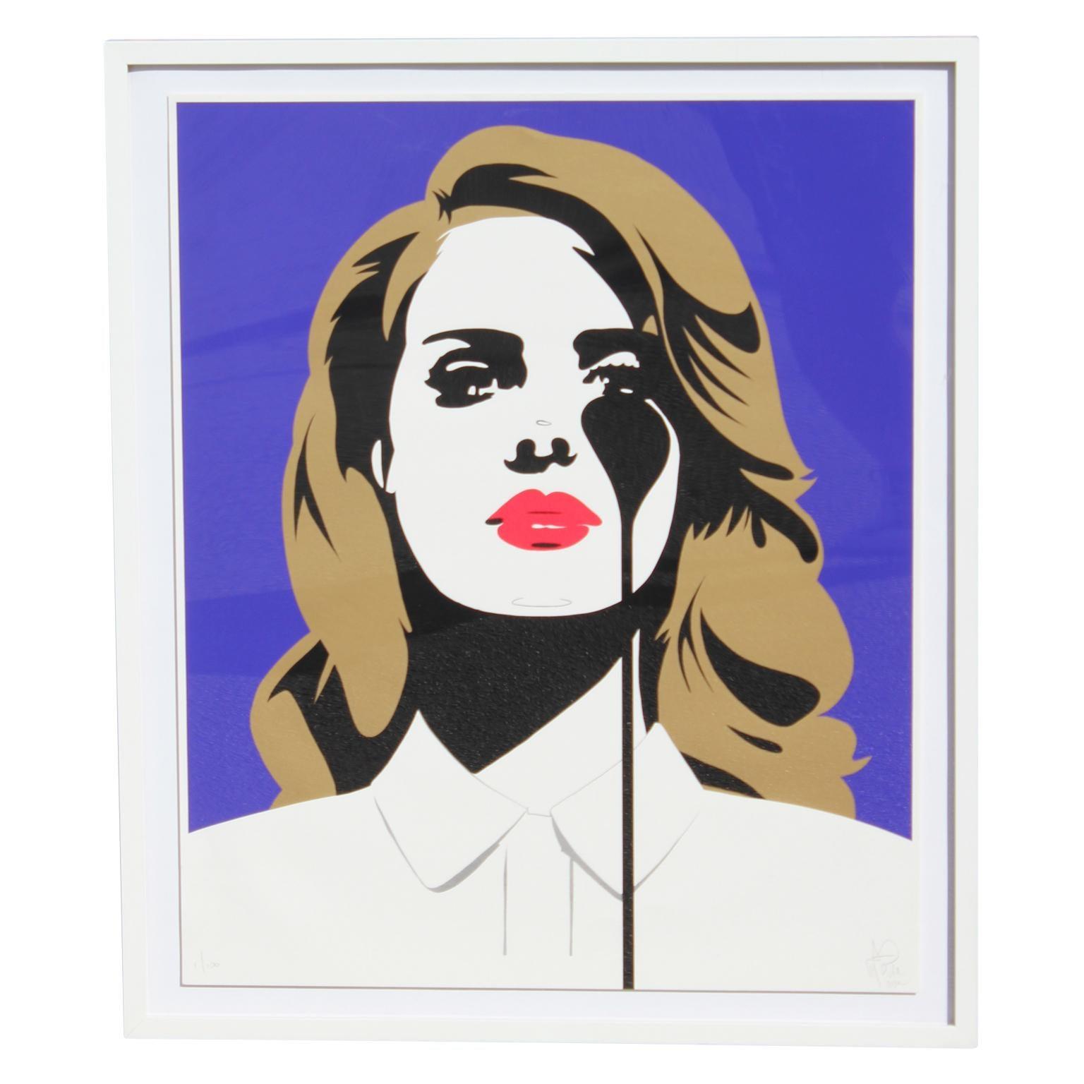 Pure Evil Lana Del Rey Pop Art Silkscreen Print Edition 1 100 At 1stdibs