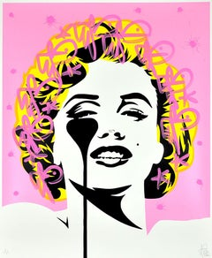 PURE EVIL: I dream of Marilyn Monroe. Unique hand finished print Street, Pop Art