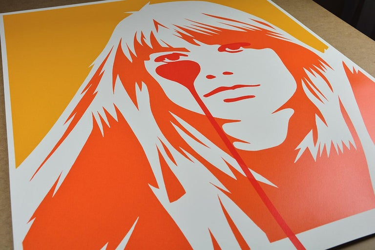 PURE EVIL: Jacques Dutronc's Nightmare - Françoise Hardy. Ed. of 40. Street art - Print by Pure Evil