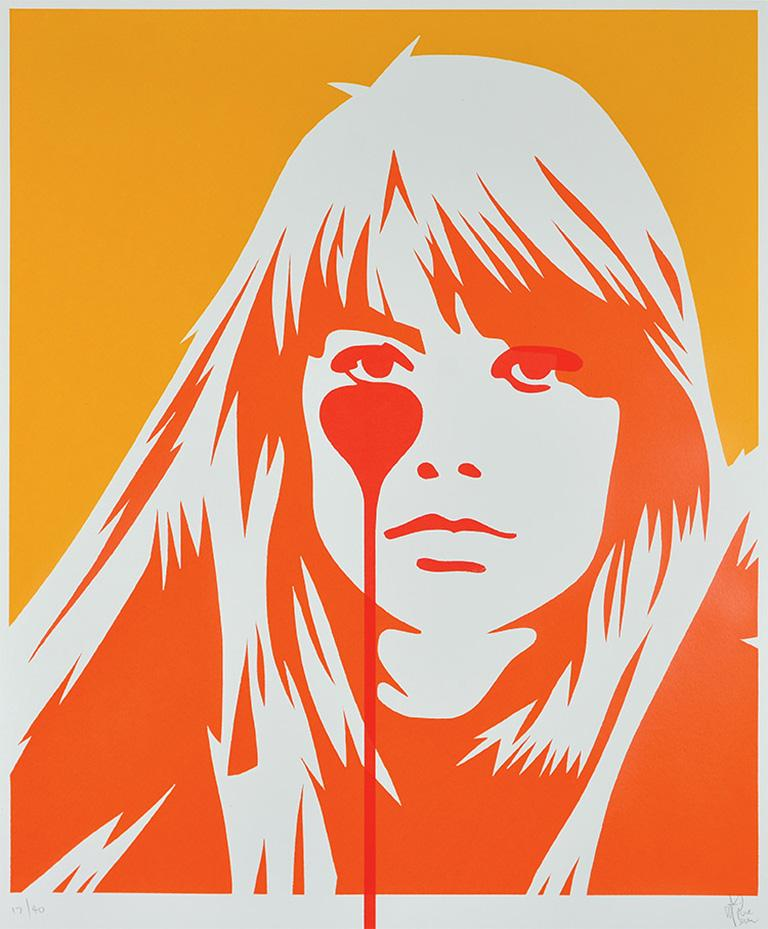 PURE EVIL: Jacques Dutronc's Nightmare - Françoise Hardy. Ed. of 40. Street art 1