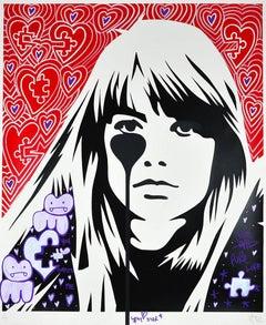 PURE EVIL: JACQUES DUTRONC'S NIGHTMARE Unique hand finished Street Pop Art