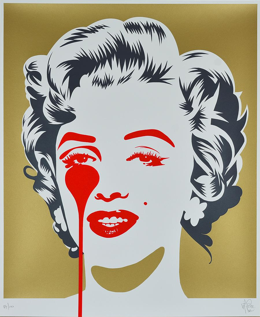 PURE EVIL: MARILYN MONROE Limited Edition screen-print Street Art, Pop Art