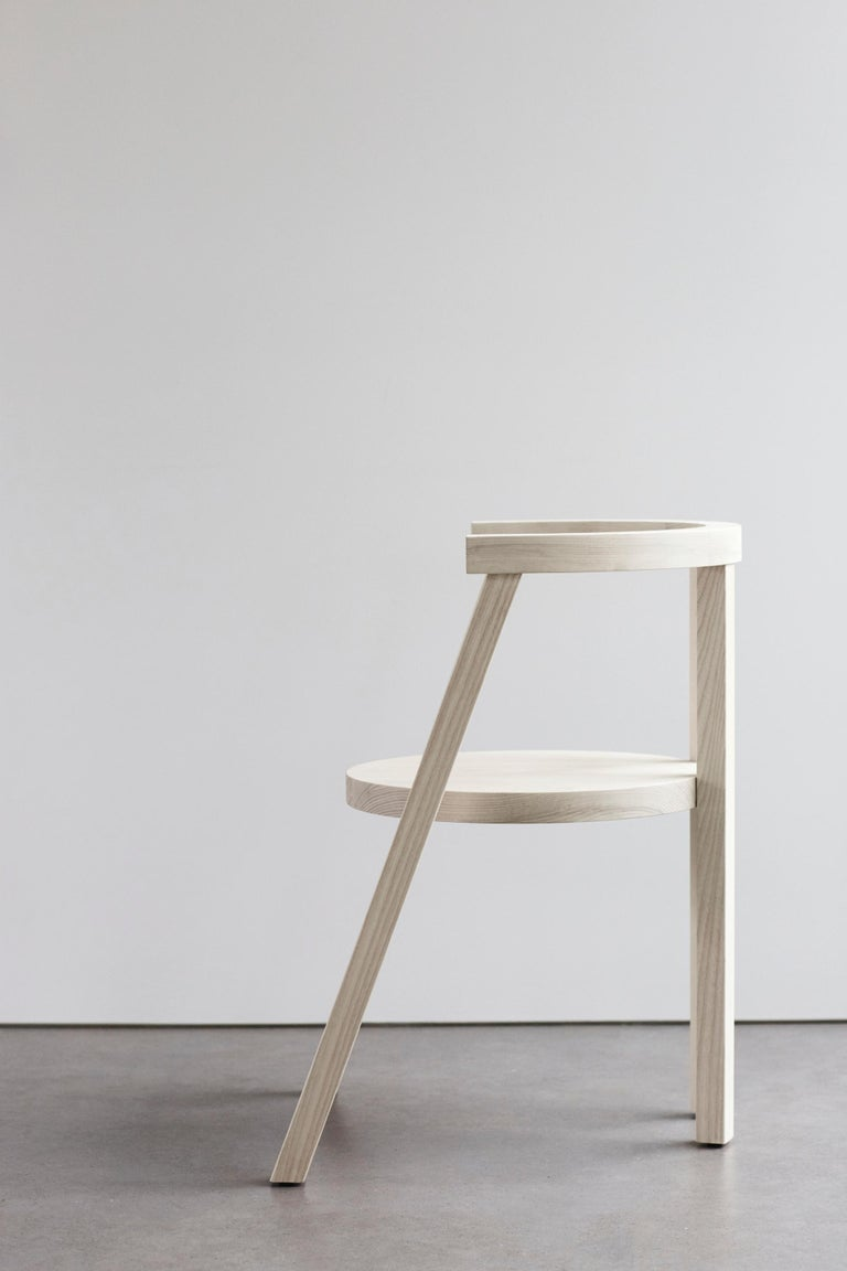 American Pure Minimalist Bleached Ash Dining Chair or Side Chair by Amee Allsop, AA103 For Sale