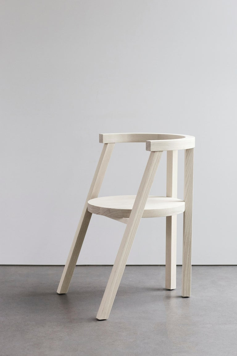 Pure Minimalist Bleached Ash Dining Chair or Side Chair by Amee Allsop, AA103 In New Condition For Sale In East Hampton, NY