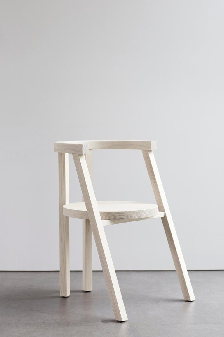Contemporary Pure Minimalist Bleached Ash Dining Chair or Side Chair by Amee Allsop, AA103 For Sale