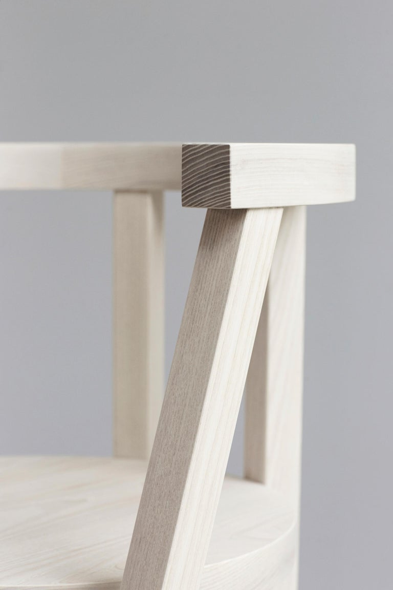 Pure Minimalist Bleached Ash Dining Chair or Side Chair by Amee Allsop, AA103 For Sale 1