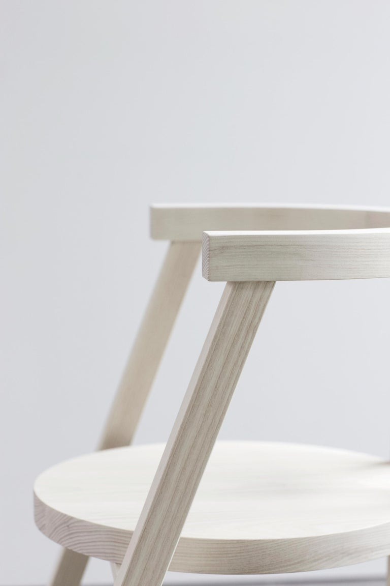Pure Minimalist Bleached Ash Dining Chair or Side Chair by Amee Allsop, AA103 For Sale 2