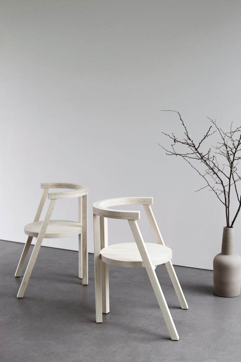 Pure Minimalist Bleached Ash Dining Chair or Side Chair by Amee Allsop, AA103 For Sale 3