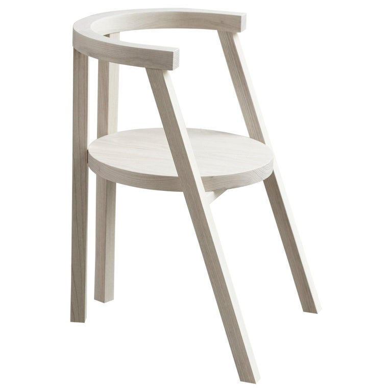 Pure Minimalist Bleached Ash Dining Chair or Side Chair by Amee Allsop, AA103 For Sale