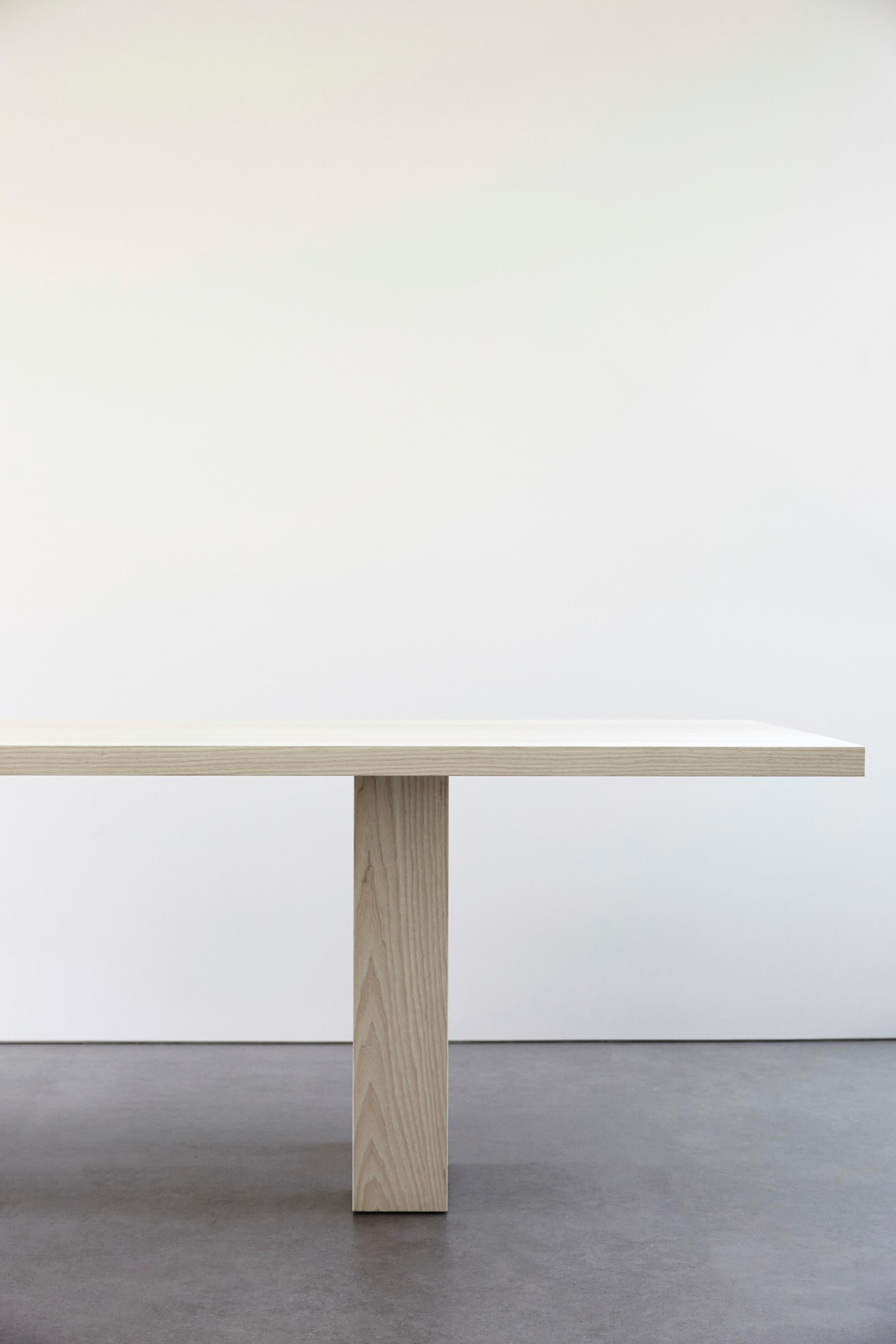 Miraculous Pure Minimalist Bleached Ash Dining Table By Amee Allsop Aa101 Download Free Architecture Designs Rallybritishbridgeorg