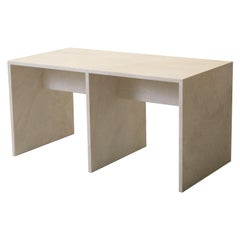 Pure Minimalist Travertine console table by Amee Allsop, AA113