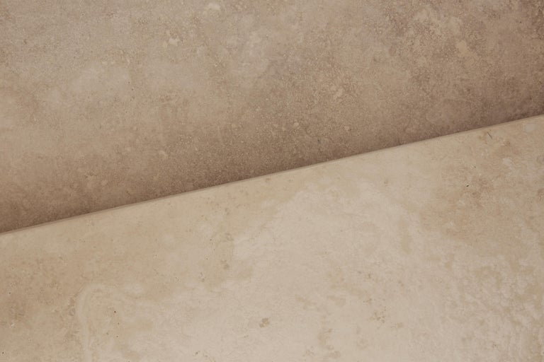 Pure Minimalist Travertine Nesting Coffee Tables by Amee Allsop, AA106 For Sale 1