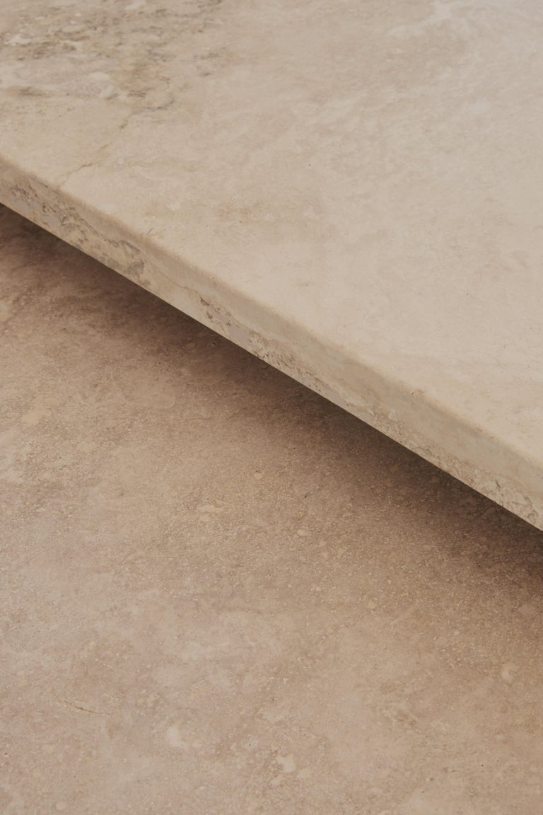 Pure Minimalist Travertine Nesting Coffee Tables by Amee Allsop, AA106 For Sale 4