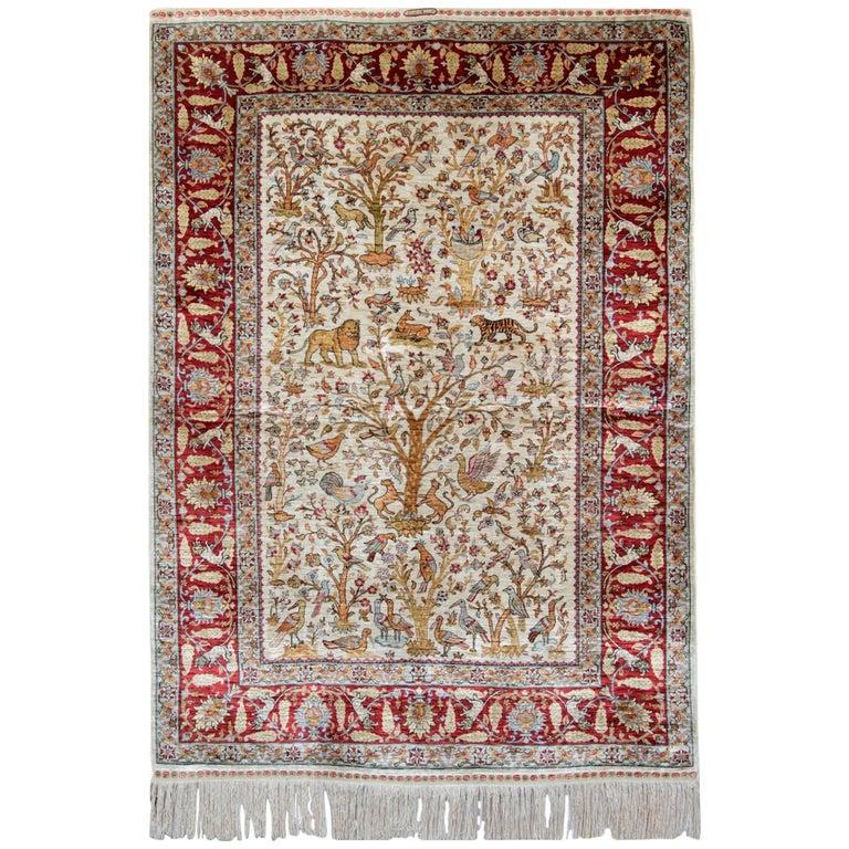Hereke Silk Rug Youtube: Pure Silk Rugs, Pictorial Turkish Rugs, Hereke Carpet With