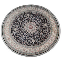 Pure Silk Rugs, Very Large Round Rugs, Chinese Hereke Carpet