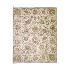 Pure Wool 250 Kpsi Kashan Revival Hand Knotted Oriental Rug