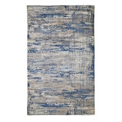 Pure Wool Abstract Design Hand Knotted Oriental Rug