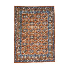 Pure Wool Afghan Ersari Hand Knotted Oriental Rug
