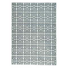 Pure Wool Flat Weave Handwoven Ivory Reversible Kilim Rug