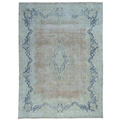 Pure Wool Kerman White Wash Hand Knotted Oriental Rug