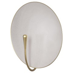 'PURION' White Lacquered Brass Minimal Wall Light Sconce, Handmade