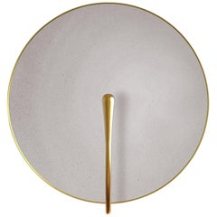 'PURION' Matt white lacquered Brass Contemporary Wall Light, Scone