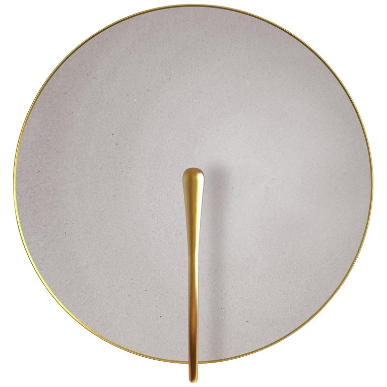 'PURION' Matt white lacquered Brass Contemporary Wall Light, Scone For Sale