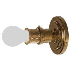 Puristic Jugendstil Otto Wagner Postal Saving Flush Mount Lamp, Re Edition
