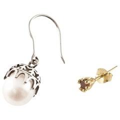 Puro Iosselliani Freshwater Pearl Odd Earrings