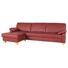 Puro Leather Corner Sofa Red Wine Red Sofa Couch
