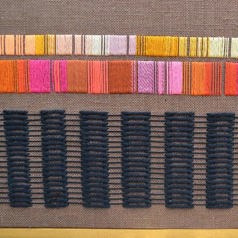 Textile Purple Abstract Artwork by Delphine A. Davidson, Edinburgh, circa 1970 For Sale
