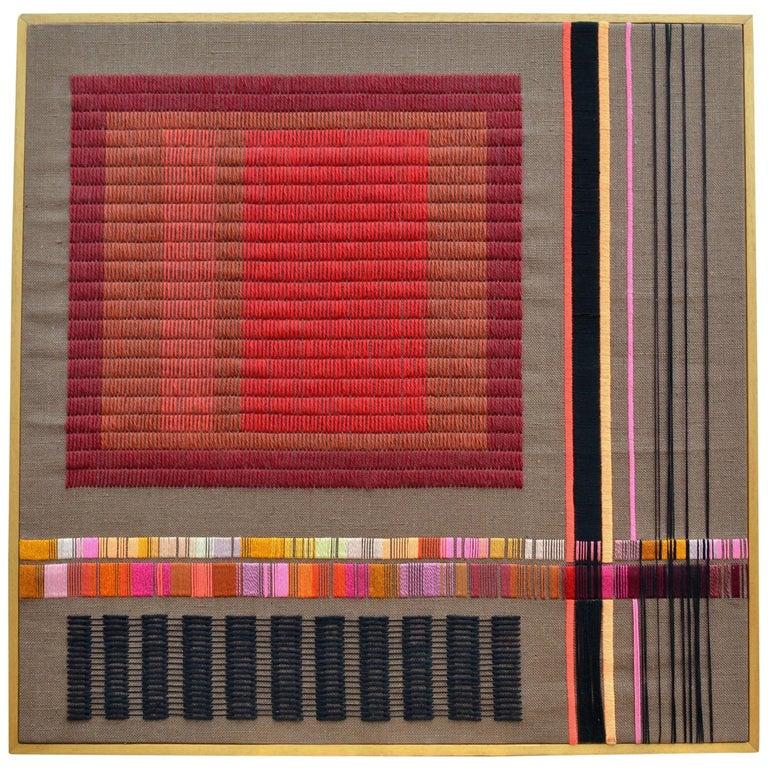 Purple Abstract Artwork by Delphine A. Davidson, Edinburgh, circa 1970 For Sale