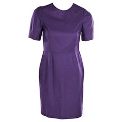 Purple Acne Studios Wool Sheath Dress