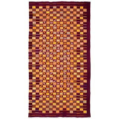 Purple African Ewe Kente Cloth Textile, Midcentury