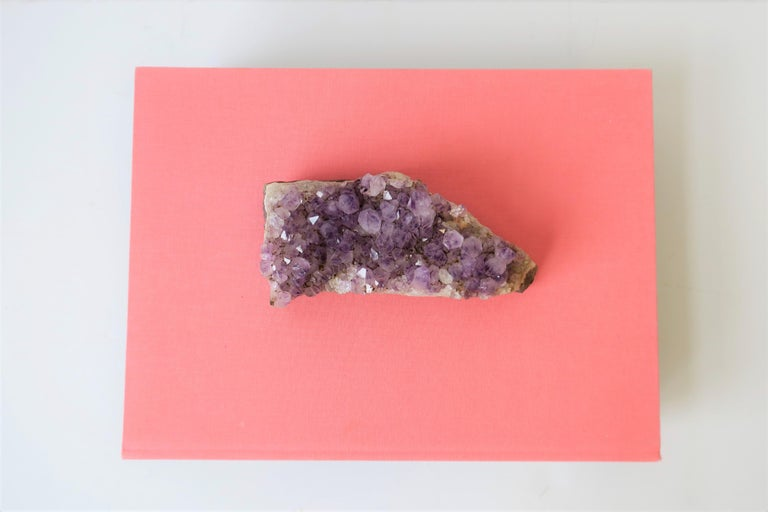 Organic Modern Purple Amethyst Decorative Object or Paperweight For Sale