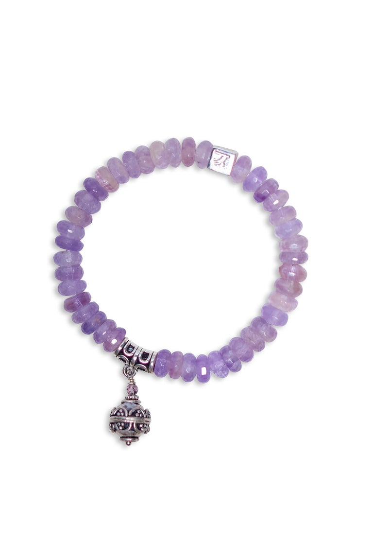 Artisan Purple Amethyst Serenity Bracelet For Sale