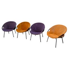 Purple an Orange Balloon Chairs from Lusch & Co., Germany, 1960s