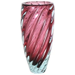 Purple and Blue Murano Glass Vase, circa 1950